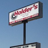 Holder's sign seen from west