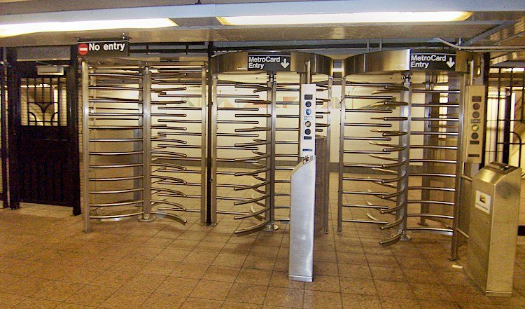 photo of New York City public access control system